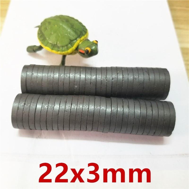 10/20/50/100 pcs/lot Y30 Disk Ferrit-magnet 22x3 Permanent magnet 22mm x 3mm Schwarz Runde Lautsprecher 22x3mm magnet 22*3 22mm x 3mm