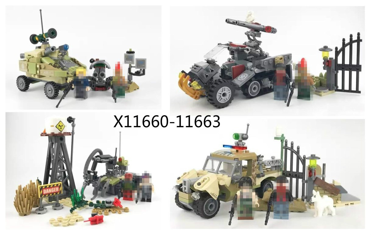 703pcs Military Series Army Soiler Oil War Building Blocks Compatible Lepins Armored Car Weapon Enlighten Toys for Children Boy enlighten 1406 8 in 1 combat zones military army cars aircraft carrier weapon building blocks toys for children