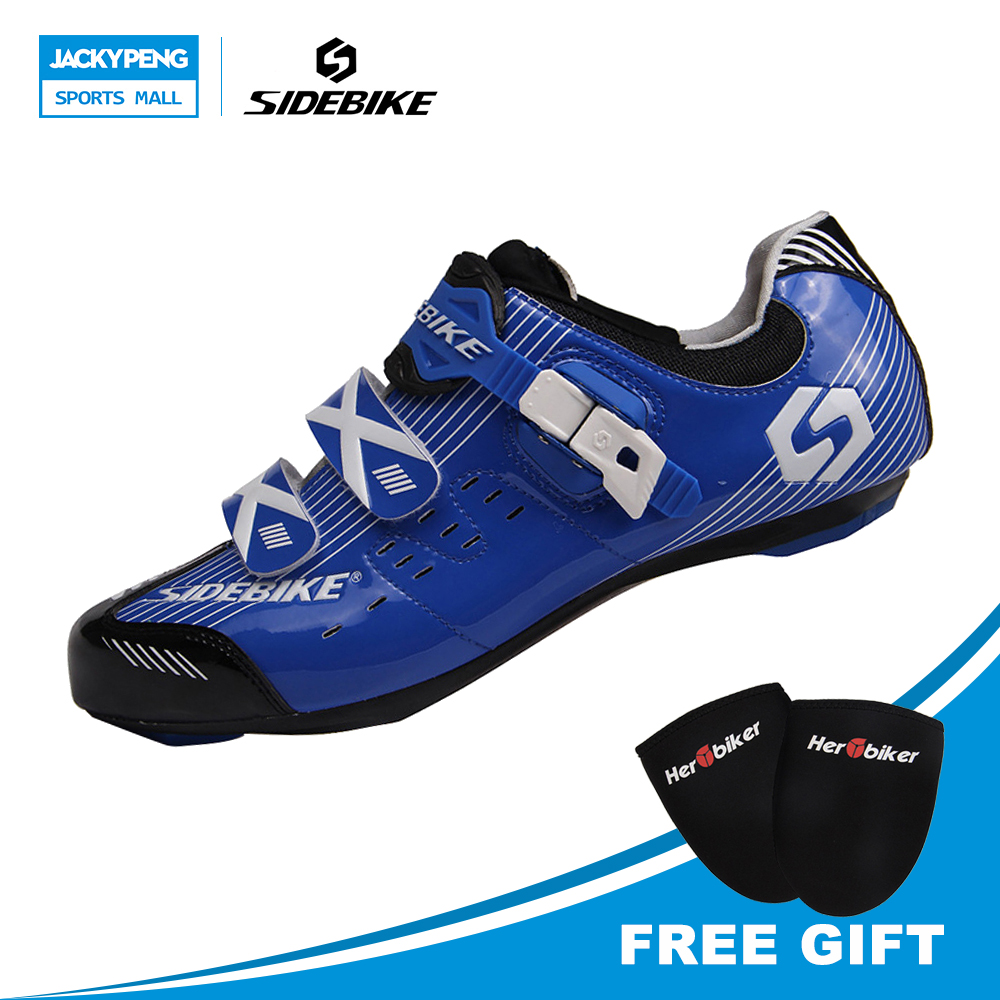 Здесь можно купить   SIDEBIKE Professional female sports shoes bike shoes road   bi corsa strada in carbonio men cycling shoes free shipping Спорт и развлечения