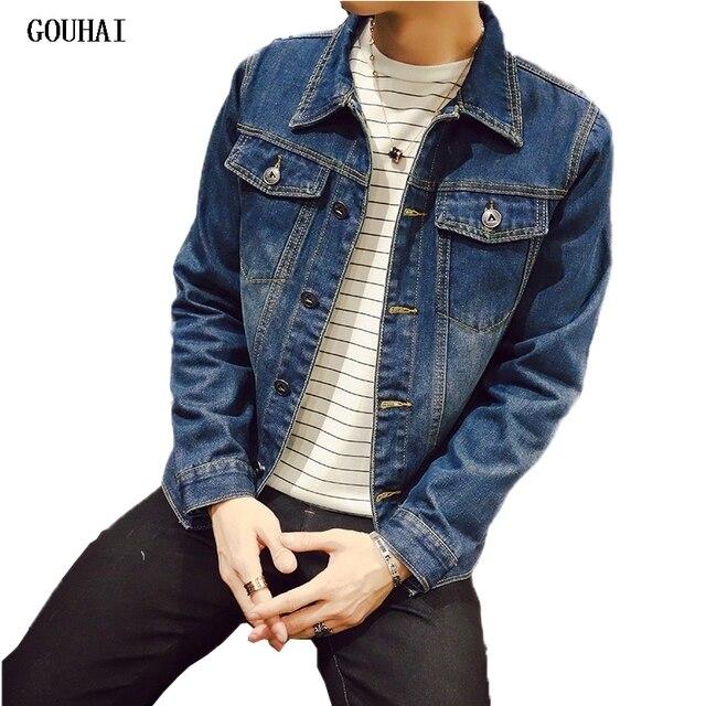 Aliexpress.com : Buy GOUHAI Fashion Mens Denim Jacket 2017 Men ...
