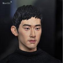 Mnotht 1/6 스케일 KM15-3 머리 조각 된 군인 장난감 남자 머리 조각 모델 액세서리 12 ''액션 그림 장난감 인형 cllection