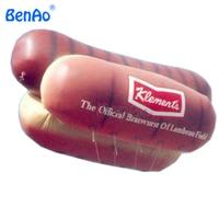AO290 BENAO DHL Free shipping 6m PVC inflatable hotdog/sausage helium balloon/inflatable airship/air blimp for advertising