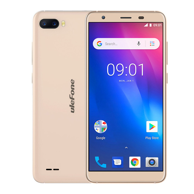 """Ulefone S1 Face ID Android 8.1 Smartphone 5.5"""" 18:9 Screen Dual Rear Camera Mobile Phone MT6580 Quad Core 3G 3000mAh Cell phone"""