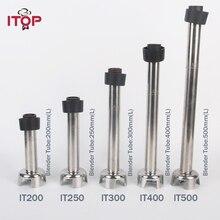 ITOP Коммерческая блендер из нержавеющей стали 160 мм/200 мм/250 мм/300 мм/400 мм/500 мм/мм для ручного погружного блендера, миксера для пищевых продуктов