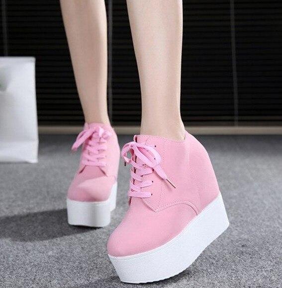 Beige Solo El Ocio 2017 Gruesas rosy rosado Inferior negro 12 Con Esponja marfil Nuevo Joker Red Cm blanco Suelas Zapatos Cuñas Aumento 4wqdZwz