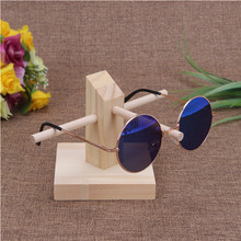 Bincoco wood display stand for glasses 3d glass display frame Sunglasses display stent incorporating props three style choose
