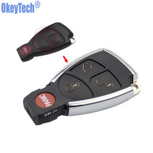 OkeyTech 4 Buttons New Style Modified Key Shell Fob Case for Mercedes Benz CLS C E