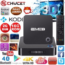 Chycet S905X EM95X Android 6.0 TV Box Amlogic Quad Core 64bit 2 GB/16 GB KODI 16.0 4 K HDMI WiFi DLNA Bluetooth 4.0 Media player