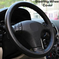 Hot Universal fio ruly trança cobertura leme no volante Sew Microfibra couro tampa da roda de direcção do carro Rodas de Direcção