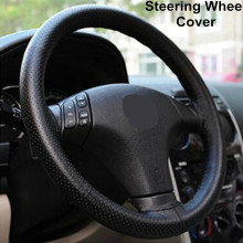 Hot Universal twine ruly braid helm cover on the steering wheel Sew Microfiber leather car steering
