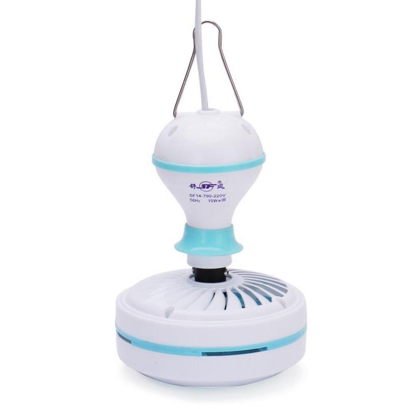 Blue 7w Silent plastic Energy saving mini ceiling fan 3-5 turn page fan 220V hanging fan Soft Wind household