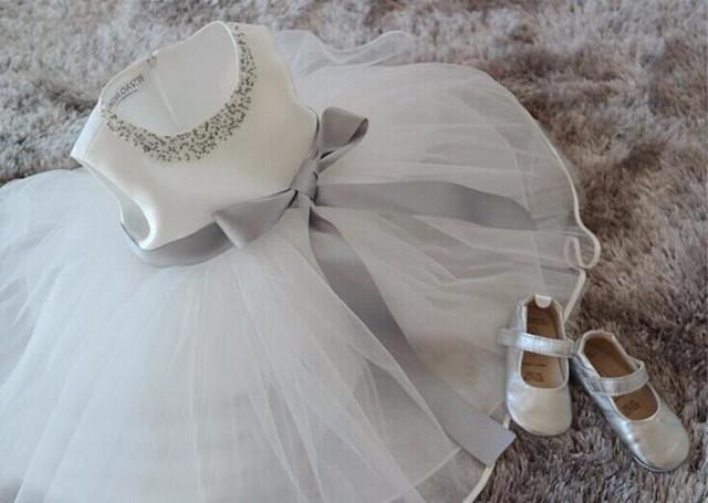 Nicoevaropa Baby Mädchen Neugeborenen Kleid Kleinkind Taufe Kleid ...