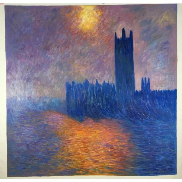 Kunst Gemälde Modern berühmte moderne kunst malerei häuser des parlaments sonne