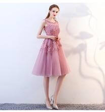 Beauty evening dress Short Beaded pearls 2019  prom elegent Evening gown fairy birthday shower vestido de noiva