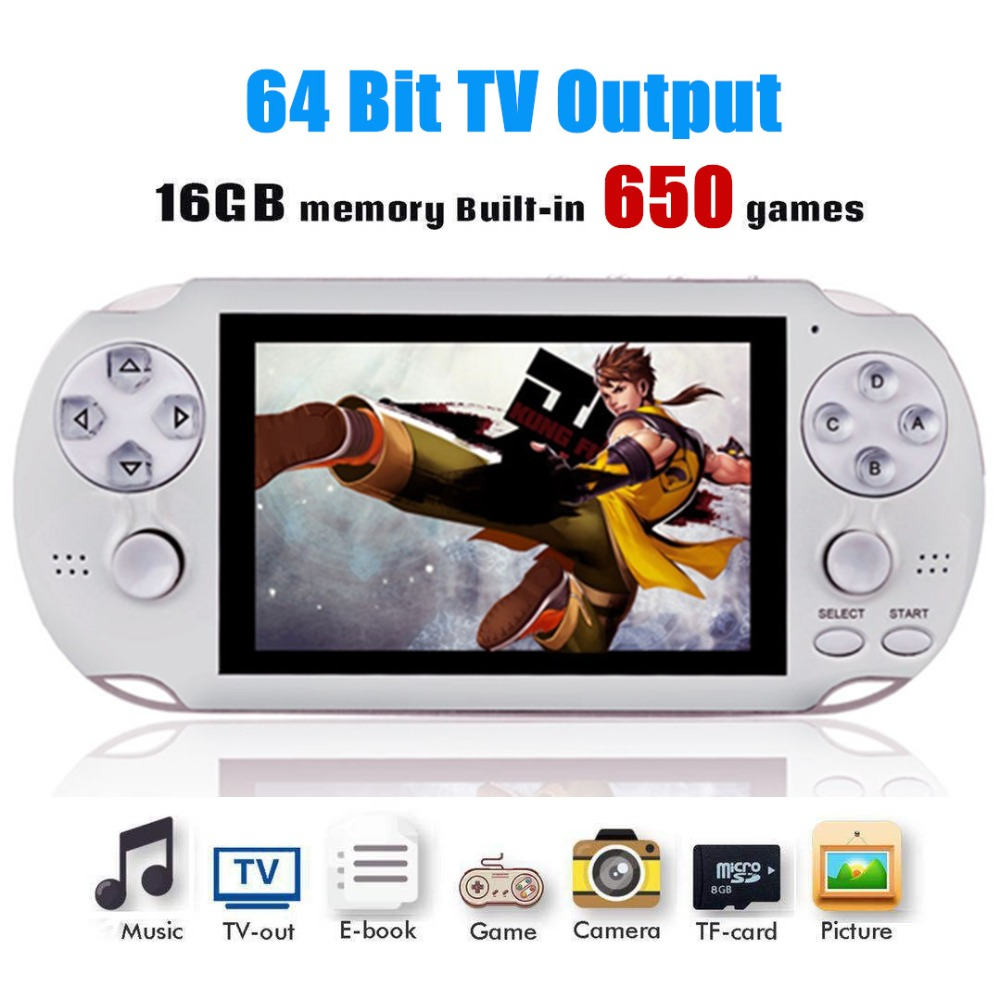 PAP Gameta II 4 inch 64Bit Portable 16G Mini Handheld Game Players Retro Video Game Console Built-in 650 Classic Games TV HD Out