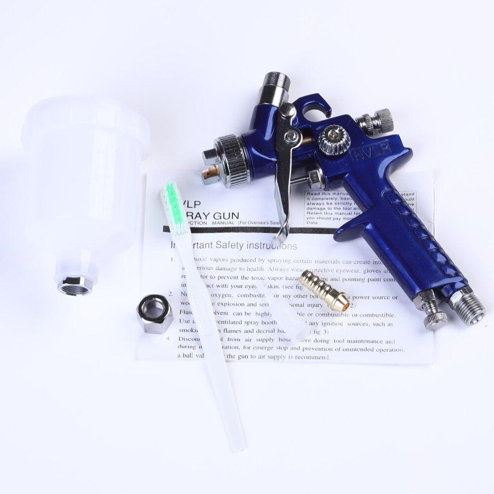 Image 5 - 0.8mm/1.0mm Nozzle H 2000 Professional HVLP Spray Gun Mini Air Paint Spray Guns Airbrush For Painting Car Aerograph-in Spray Guns from Tools on