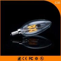 50 шт. 3 Вт E12 E14 светодиодные лампы, c35 светодиодные свечи накаливания лампы 360 градусов свет лампы Винтаж подвесные светильники AC220V