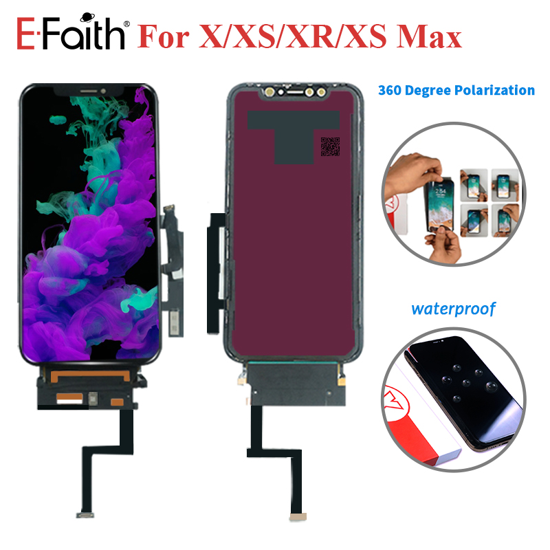5PCS Lot EFaith High Brightness OLED Display For iPhone X XS XR XS Max lcd Screen