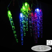 5M 28 LED Waterproof RGB Icicle Pendants String Lights Outdoor Fairy Light for Garden Party Christmas Decoration CLH@8