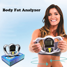 Digital LCD Screen Handheld BMI Tester Body Fat Monitor Health Analyzer Fat Meter Detection Household Health care monitor Y2