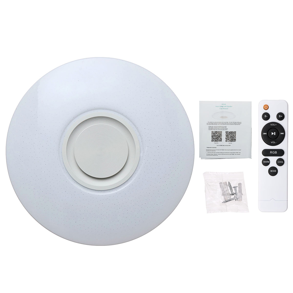 Smuxi 60W 102LED bluetooth LED Music Ceiling Lights Starry APP/Remote Control Dimming RGB bluetooth LED Lamp AC180-240V Fixtures