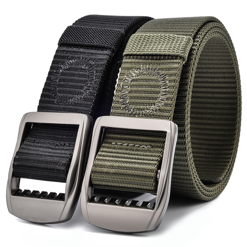 160cm 180CM Blus Size Men Tactical Belts Military Nylon Women Army Style Metal Buckle Cinturon Jeans Strong Waist Strap Black