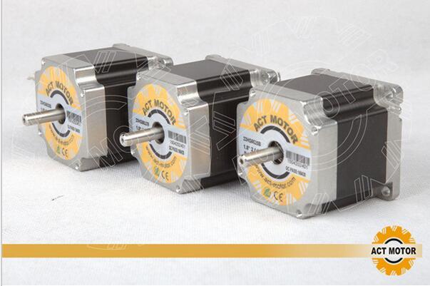 Meilleure Vente! Acte 3 pièces Nema23 moteur pas à pas 23HS6620B double arbre 185oz-in 56mm 2A 6-plomb 2 phases CE ROHS ISO CNC gravure