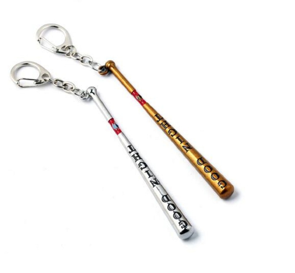 Suicide Squad Harley Quinn Metal Keychain toy Good Night Baseball Bat Keychain Key Ring Nice Christmas Gift For Men Women Toys