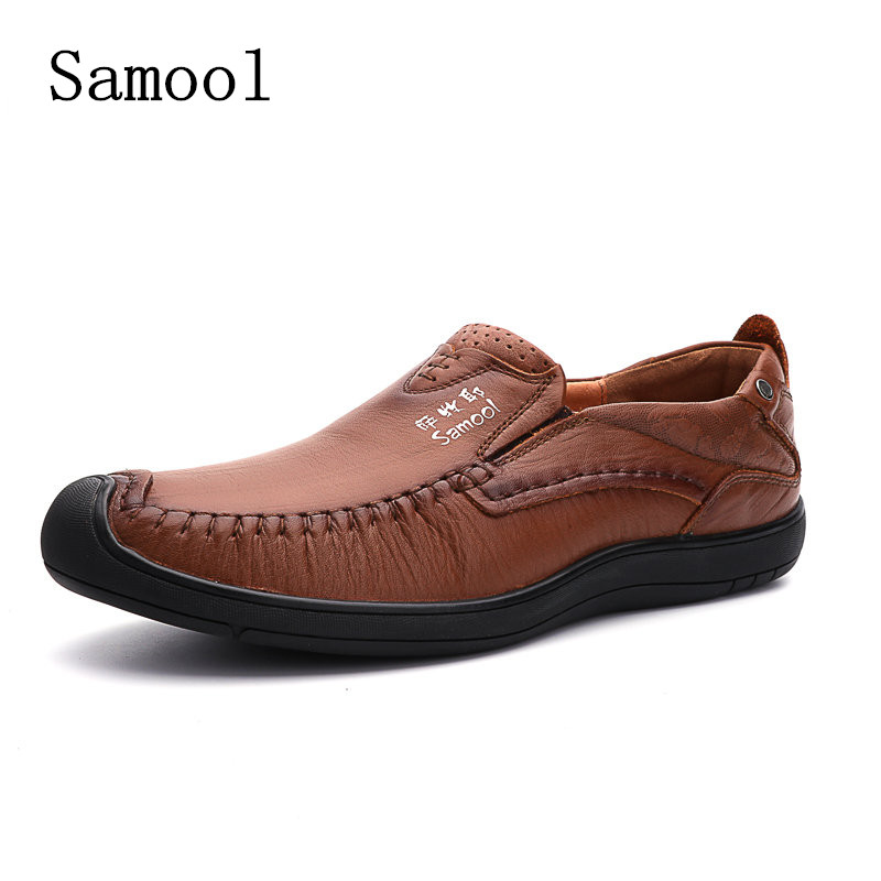 2017 Spring Autumn High Light Genuine Leather Men Loafers New Fashion Comfortable Light Mens Breathable Driving Casual Shoes brand 2018 new comfortable casual shoes loafers men shoes high quality driving shoes fashion trends spring and autumn bh a0054
