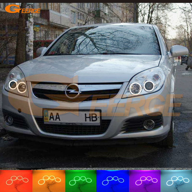 For Opel Vectra C 2005 2006 2007 2008 Excellent Angel Eyes Multi-Color Ultra bright RGB LED Angel Eyes kit Halo Rings super bright led angel eyes for bmw x5 2000 to 2006 color shift headlight halo angel demon eyes rings kit