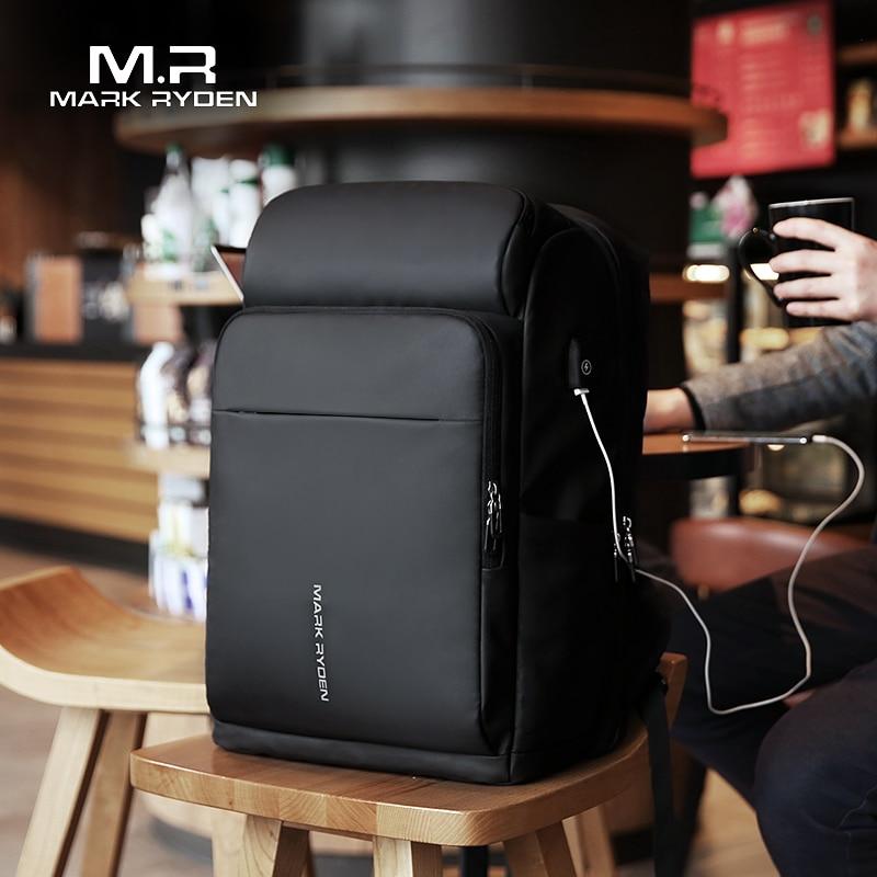 Mark Ryden hommes sac à dos multifonction USB charge 17 pouces pochette d'ordinateur grande capacité étanche sacs de voyage pour hommes - 2
