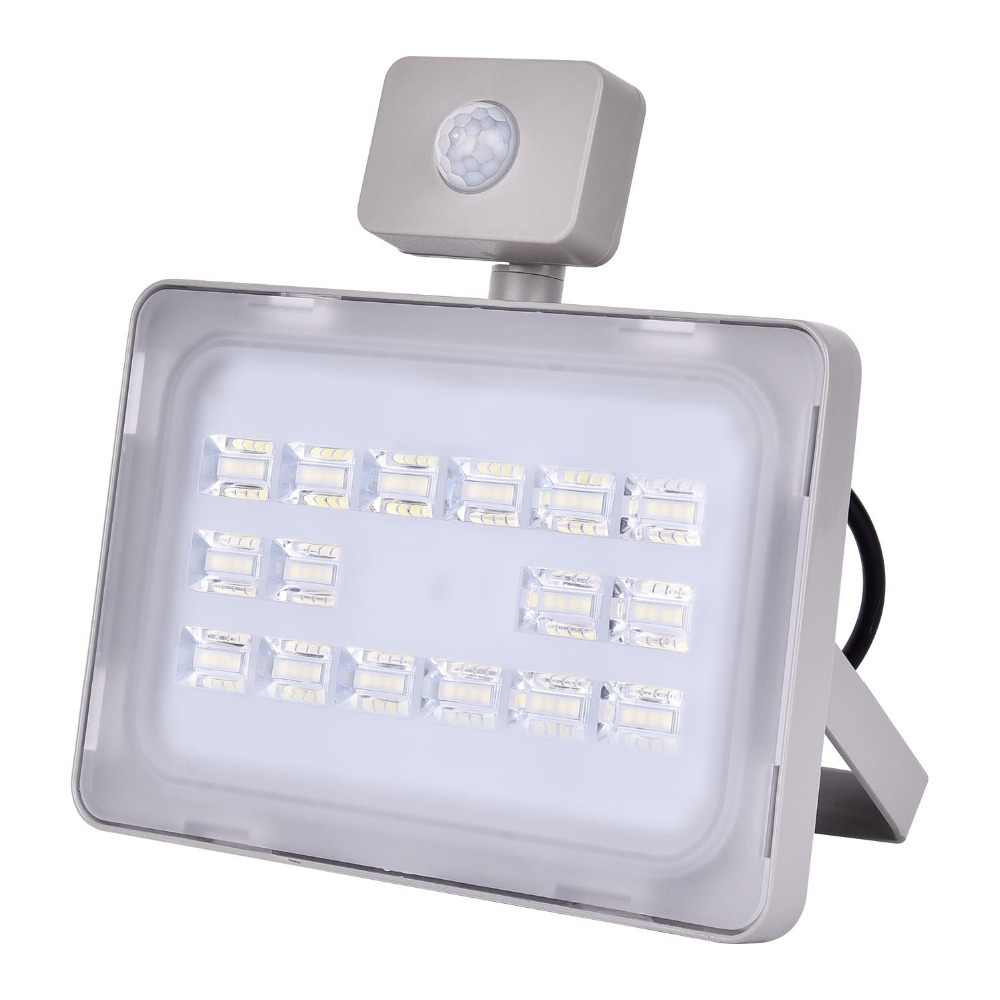 UPGRATE 50W PIR LED Flood Light IP65 220V-240V 6000LM PIR Motion Sensor Lamp Infrared Sensor Floodlight SMD2835 Outdoor Lighting