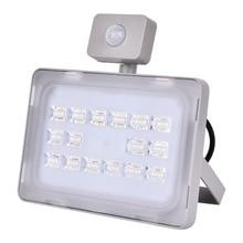 UPGRATE 50W PIR LED Flood Light IP65 220V-240V 6000LM PIR Motion Sensor Lamp Infrared Sensor Floodlight SMD2835 Outdoor Lighting