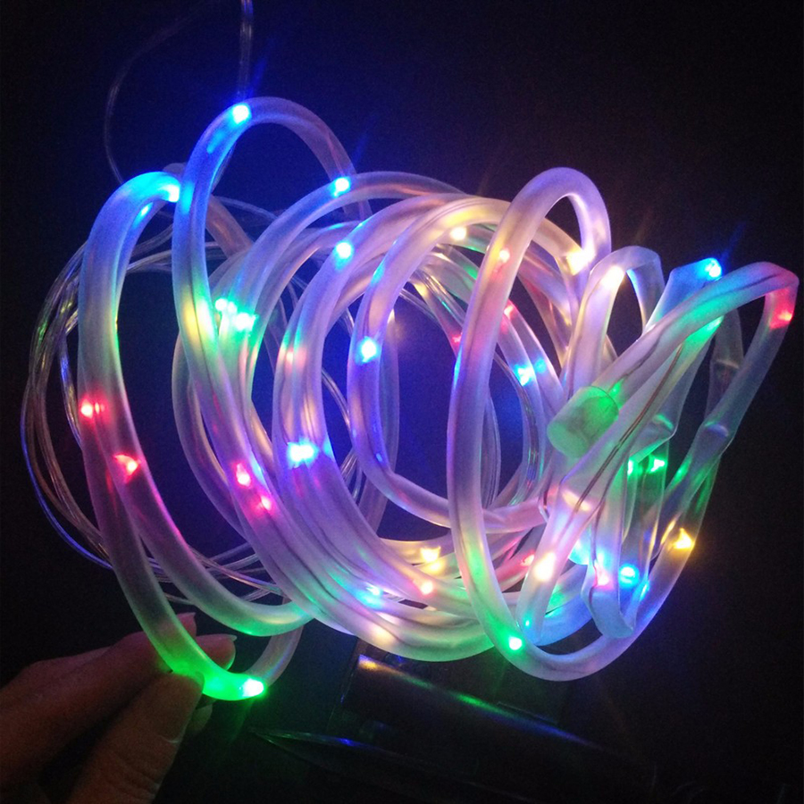 Lights & Lighting Frugal Hanmiao 50 Led Solar Light Copper Wire Transparent Soft Pvc Rope Tube Led String Lights Waterproof Outdoor Christmas Lights 02 Agreeable To Taste