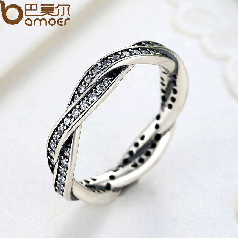 BAMOER 8 STYLE BRAIDED PAVE LEAVES My Princess Queen Crown SILVER