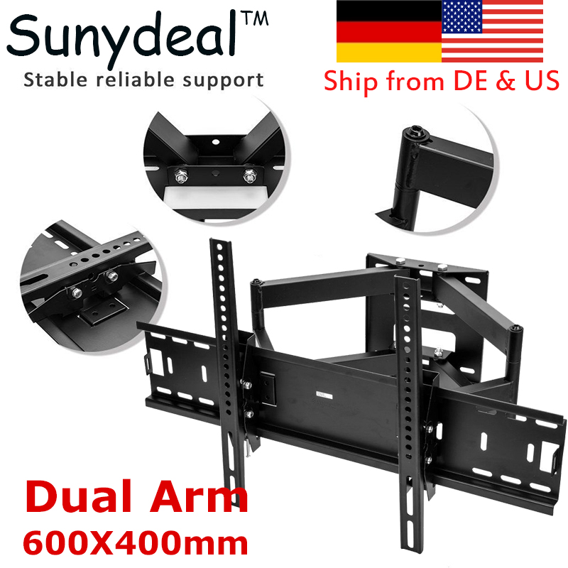 Articulating Full Motion TV Wall Mount Dual Arm Swivel Suitable TV Size 32'' 37'' 42'' 55'' 60'' 65'' 70'' TV Bracket 600x400mm md 3414 full motion до 60
