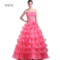 Pink Quinceanera Dresses 2017 Organza With Ivory Appliqued Lace Sweet 16 Dresses Puffy Ball Gown Vestido