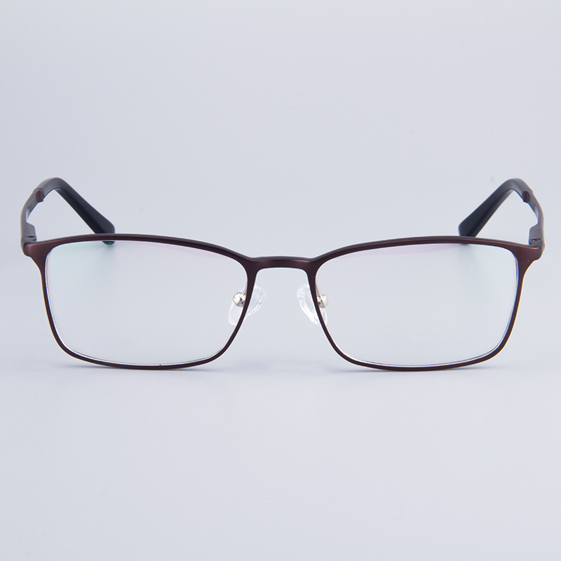 Image 4 - Fashion Full Rim Eyeglasses Frame Brand Designer Business Men Frame Hydronalium Glasses With Spring Hinge On Legs GF521-in Men's Eyewear Frames from Apparel Accessories on AliExpress
