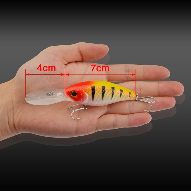 Hot Sale 110mm 20g Crankbait Top Quality Fishing Lures Fishing Tackle 5 color for Choice Minnow fishing bait  Hook Soft Bait