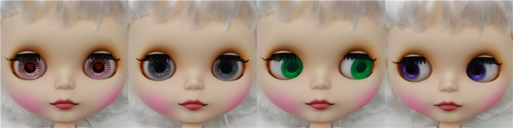 Neo Blythe Doll with White Hair, White Skin, Matte Face & Jointed Body 1
