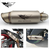 Universal 51/61MM Motorcycle Exhaust Pipe Muffler Motocross Pot Escape for v strom 650 dl suzuki yamaha r1 2009 bmw r 1200 rt
