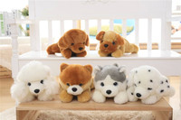 100% nuevo perro de dibujos animados sobre 32 cm propensos perro husky de peluche de juguete muñeca suave regalo de cumpleaños b1389