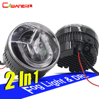 Cawanerl 2 Pieces Car LED Fog Light DRL Daytime Running Lamp For Nissan Patrol X Trail Qashqai Juke Note Versa Tiida NV200 Cube