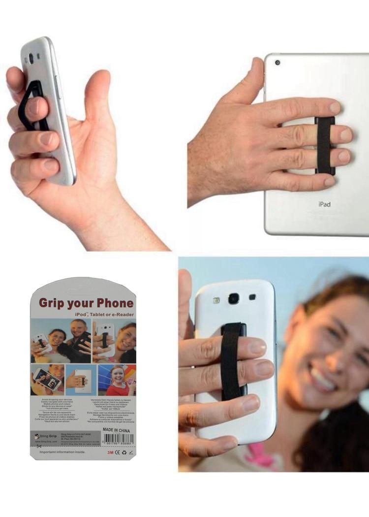 5 шт./лот 9 видов цветов Универсальный мобильный телефон палец держатель сотовый телефон слинг резиновая Шипованная одной рукой Нескользящи…