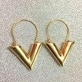 Bovvsky moda único v forma geométrica brincos gotas da orelha brincos dangle brincos declaração de prata do metal do ouro