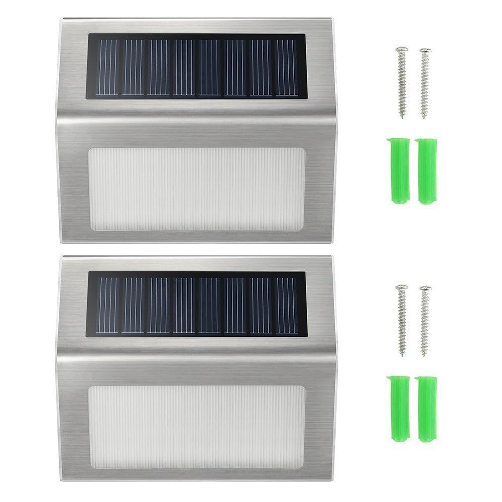 Automatic Light Control 2leds Solar Power Led Outdoor Lights Ip44 Garden Pathway Stair Lamp Light Energy Saving Solar Led