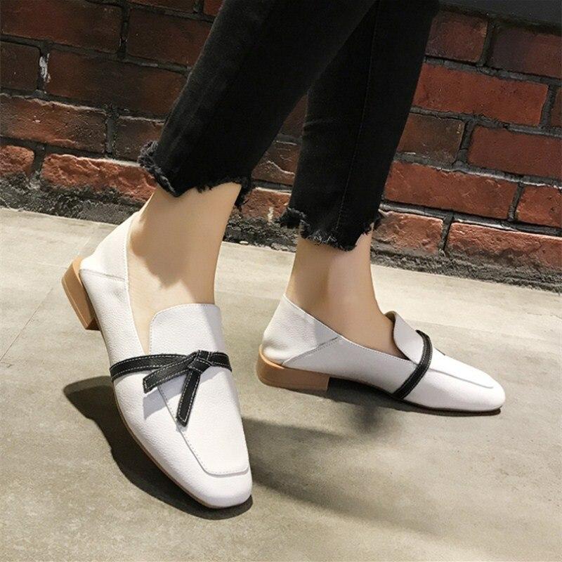 2019 новые весенние лоферы из натуральной кожи модные повседневные мягкие дышащие туфли на плоской подошве популярная удобная женская обувь