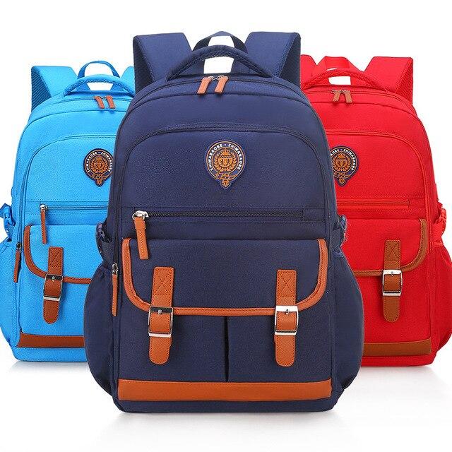 Us 19 27 51 Off Childer Schoolbags Kids Primary School Backpack Boys Orthopedic Waterproof Book Bag Travel Satchel Sac A Dos Mochila In