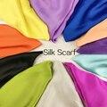 2018New primavera y otoño de las mujeres de la marca de lujo de bufandas de colores sólidos bufanda de seda Plus tamaño 180 cm * 90 cm Mantón de seda bufanda del hijab 15 colores