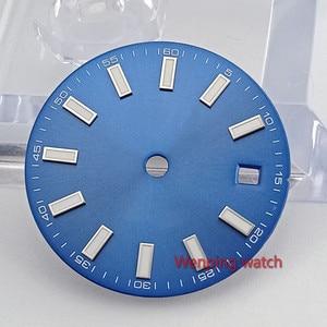 Image 2 - 29mm סדרת חיוג קוטר גודל שעון חלק שעון פנים miyota 8215 821A mingzhu 2813 3804 אוטומטי תנועה P868